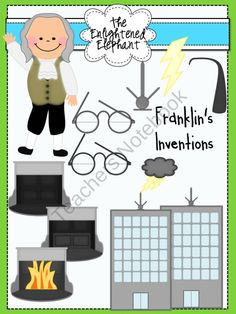 Inventions of Benjamin Franklin Clip Art product from The-Enlightened-Elephant on TeachersNotebook.com