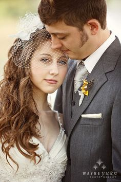 Great wedding photo, romantic, sweet, simple but her eyes tell so much more!