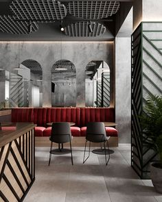 PRONTO PIZZA - RESTAURANT on Behance Restaurant Interior Design, Commercial Interior Design, Office Interior Design, Commercial Interiors, Restaurant Interiors, Design Café, Cafe Design, House Design, Restaurant Hotel