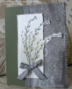 Get well card with p'willows - Karen Stamps! by Karen Stamps! - Cards and Paper Crafts at Splitcoaststampers Tombow Markers, Basic Grey, Get Well Cards, Paper Hearts, Pigment Ink, Petunias, Pattern Paper, My Design, Stamps