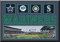 Seattle Mariners Safeco Field Double Matted With Seattle Mariners Wool Felt Logos With Team Name Mat Cut Out Letters-Framed With 1 1/12 Inch Black Frame-Must For A Championship Team Fan! Most Teams Available-Please Go Through Description & Mention In Gift Message If Need A different Team. ArtandMore, Davenport, IA http://www.amazon.com/dp/B00M40M24Q/ref=cm_sw_r_pi_dp_XZ1Bub0ZYAWCP