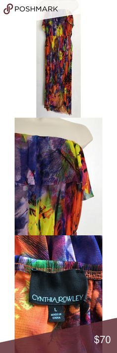 Cynthia Rowley Multi Colored Strapless Dress Size: Large. Condition: No defects. Please feel free to ask any questions in the comments! :-) Cynthia Rowley Dresses