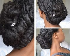 beautiful black updo for women with natural hair