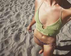Lime Crafteeny Bralette #crochetbikini