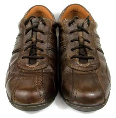 Skechers Sneakers Brown Leather OxfordsTennis Shoes Mens Size 10 M #SKECHERS #Oxfords