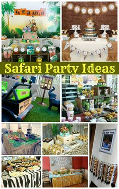 Safari Parties are one of the most searched terms on Moms & Munchkins so I've put together a fabulous roundup of 9 creative safari party ideas.