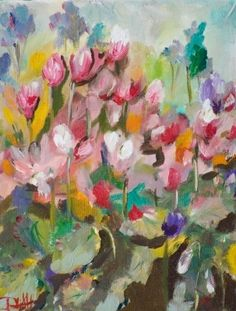 Cyclamen No.3, painting by artist Delilah Smith