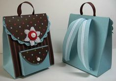 """Gift Box - Mini Backpack Part 1 of 4 - from """"InkingIdaho.blogspot.com"""""""