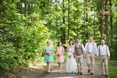 The Wedding Party at a Country Wedding