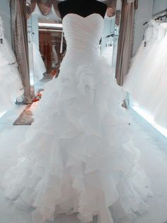 Real Pictures Wedding Dresses 2016 Cheap Wedding Gowns Sweetheart Dropped Waist Ruched Organza Cathedral Bridal Dresses Princess Gowns Top Of The Line Wedding Dresses Vintage Lace A Line Wedding Dresses From Ourfreedom, $125.58| Dhgate.Com