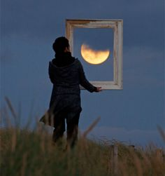 Series of clever photos by talented French photographer Laurent Laveder.that show people interacting with the moon.