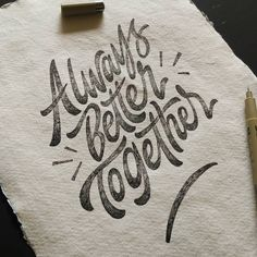 I really like this handmade paper 😍 Typography Sketch, Calligraphy Logo, Creative Typography, Typography Quotes, Typography Inspiration, Typography Letters, Graphic Design Typography, Lettering Design, Lettering Ideas