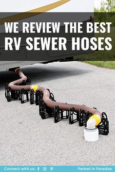 Tricks on the best advice for finding an RV sewer hose and potable water hose for a motorhome or RV. Empty your toilet black water tank. How to clean a gray water tank for the kitchen, shower or small bathroom. Tips for road trip living and keeping clean in a camper. Storage ideas in this campsite adventure travel blog. Water Hose, Water Tank, Plumbing Accessories, Camper Kitchen, Kitchen Shower, Camper Storage, Water Valves, Van Living, Design Your Dream House