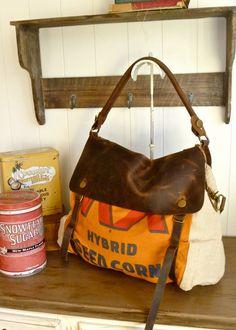 So many fantastic vintage feed bag purses!  @selinavaughan