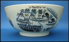 """Eric Ravilious: """"Boat Race"""" bowl for Wedgwood"""