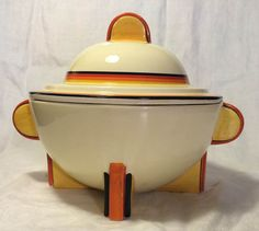 Clarice Cliff Soup Tureen by RedPersimmonVintage on Etsy