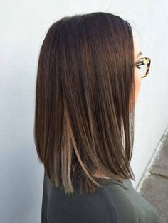 Ideas de cortes de cabello recto Straight Hair Styles Medium, Straight Long Bob, Haircuts Straight Hair, Medium Straight Hairstyles, Hair Cuts Lob, Straight Brunette Hair, Blunt Cut Hairstyles, Lob Cut, Blunt Bob Brunette