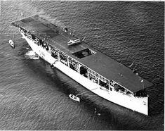 USS Langley (CV1) - Entrata in servizio7 aprile 1913 Destino finaleaffondata il 27 febbraio 1942 Caratteristiche generali Dislocamento19 360 tons (come Jupiter) 11 500 tons (come Langley) 13 000 tons (normale come Langley) Lunghezza165,40 m Larghezza19,80 m Pescaggio 5,48 m Ponte di volo183x22 mm Velocità15,5 nodi (28,7 km/h) Equipaggio468 tra marinai, sottufficiali ed ufficiali