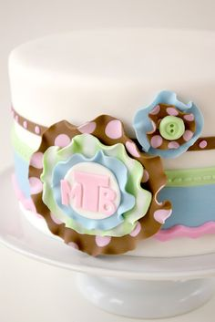 Fabric Inspired Baby Shower Cake