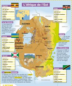 Educational infographic : Fiche exposés : L'Afrique de l'Est Ap French, Study French, French Words, Learn French, Flags Europe, French Alphabet, French Expressions, Teacher Supplies, Africa Map
