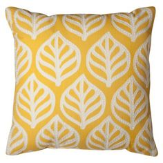 """Room Essentials® Embroidered Leaf Toss Pillow (18x18"""")"""
