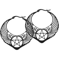 Wildcat  Earring  »Winged Pentagram« | Buy now at EMP | More Rock wear  Earrings  available online ✓ Unbeatable prices!