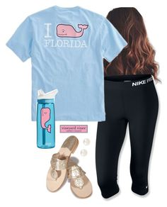 """""""New vineyard vines shirt"""" by aweaver-2 ❤ liked on Polyvore featuring NIKE, Vineyard Vines, Jack Rogers, Accessorize and CamelBak"""