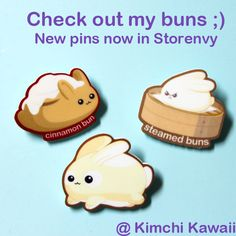 Cute new pins in my Storenvy from Kimchi Kawaii http://kimchikawaii.storenvy.com/collections/185293-acrylic-pins
