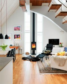 Love the wood burning stove