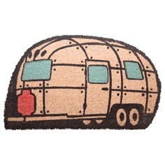 Streamline Caravan Shaped Coir Door Mat Material: Natural Coir with PVC Backing Natural Door Mats, Coir Doormat, Birthday Gifts For Boys, Table Accessories, Practical Gifts, Novelty Gifts, Hobbies And Crafts, Little Gifts, Funny Gifts