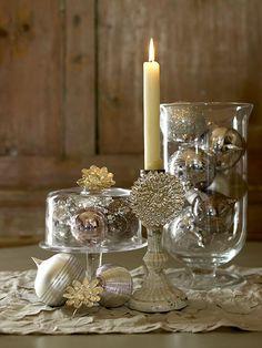 silver holiday decor