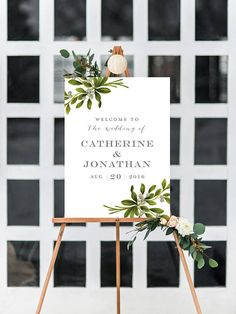CATHERINE SUITE  Printable Welcome Sign Wedding Reception