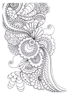 Free coloring page «coloring-adult-zen-anti-stress-to-print-drawing-flowers».