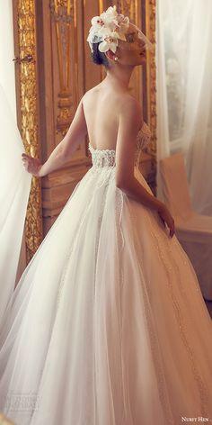nurit hen 2016 bridal sleeveless sweetheart illusion bodice ball gown wedding dress (12) romantic bv