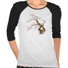 Stylish Sakura Tree • Ladies 3/4 Sleeve Raglan Shirt Raglan Shirts, Wardrobe Staples, Fitness Models, Female, Stylish, Lady, Casual, Sleeves, Cotton