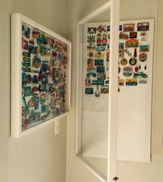 Printing Videos Technology Architecture Fridge Magnet Save The Date Sticks Code: 1179437078 Travel Theme Decor, Souvenir Display, Diy Pallet Wall, Memory Wall, Disney Rooms, Closet Layout, Diy Magnets, Travel Wall, Displaying Collections