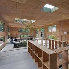 Plywood house with interior garden