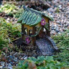 Fairy Homes and Gardens - Miniature Fairytale Covered Bridge, $12.59 (http://www.fairyhomesandgardens.com/miniature-fairytale-covered-bridge/)