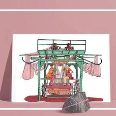 Boutique en ligne du Grand Bassin | Illustration | Créations artisanales | France Format A3, France, Illustrations, Drawings, Art Crafts, Boutique Online Shopping, Illustration, Sketches, Drawing
