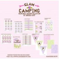 Glam Camping Girl Birthday Party - Glamping Printables Collection
