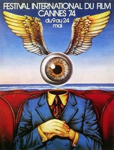 1974 Like we said, most of the posters during the 1970s were pretty… trippy. This one is no exception. It's so bizarre and it has a surrealist vibe, which is why it's great. It definitely stands out from the rest. The poster is an original illustration by Georges Lacroix.