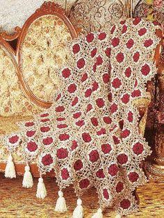 Antique Medallions Crochet Afghan: free pattern