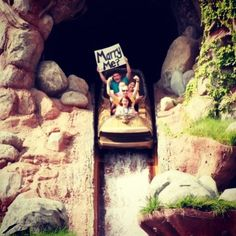 Proposal on splash mountain at Disneyland. She said yes. We are getting married October 4th 2013.