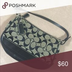 74fd69ecf5 Shop Women s Coach Black White size OS Mini Bags at a discounted price at  Poshmark. Barely used