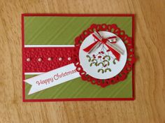 Stampin Up handmade Christmas card  christmas by treehouse05, $4.50