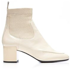 Pierre Hardy Ace Boot In Ivory (€1.035) ❤ liked on Polyvore featuring shoes, boots, chelsea boots, pierre hardy boots, winter white shoes, beatle boots and ivory shoes