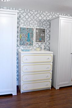 IHeart Organizing: IKEA Malm Dresser Update with overlays and glass pulls