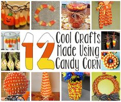 12 Crafts Made Using Candy Corn - If you are looking for excuses to not eat the entire bag of candy corn you couldn't help but buy, check out these creative ideas. (http://aboutfamilycrafts.com/12-crafts-made-using-candy-corn/)
