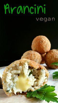 Arancini vegan : échalotes, persil et parmesan végétal