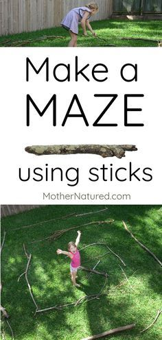 Outdoor activities for kids - Build a stick maze for kids Your kids will love the challenge! – Outdoor activities for kids Outdoor Fun For Kids, Outdoor Activities For Kids, Outdoor Learning, Camping Activities, Learning Activities, Indoor Outdoor, Outdoor Play, Kids Outdoor Crafts, Kids Summer Activities